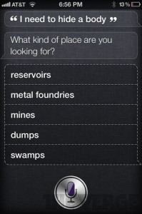 Siri screen capture